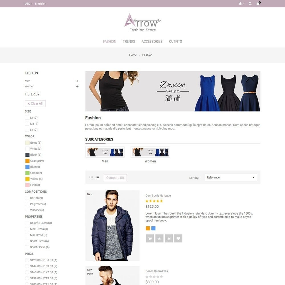 theme - Мода и обувь - Arrow Fashion Store - 4