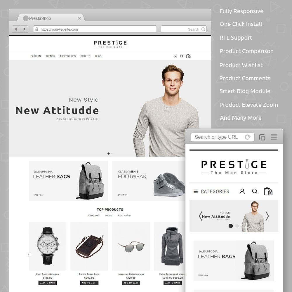 theme - Fashion & Shoes - Prestige Fashion Store - 1