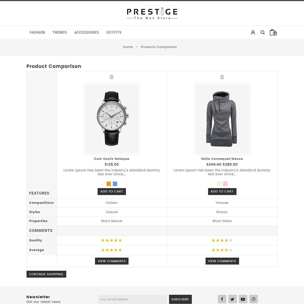 theme - Mode & Chaussures - Prestige Fashion Store - 7