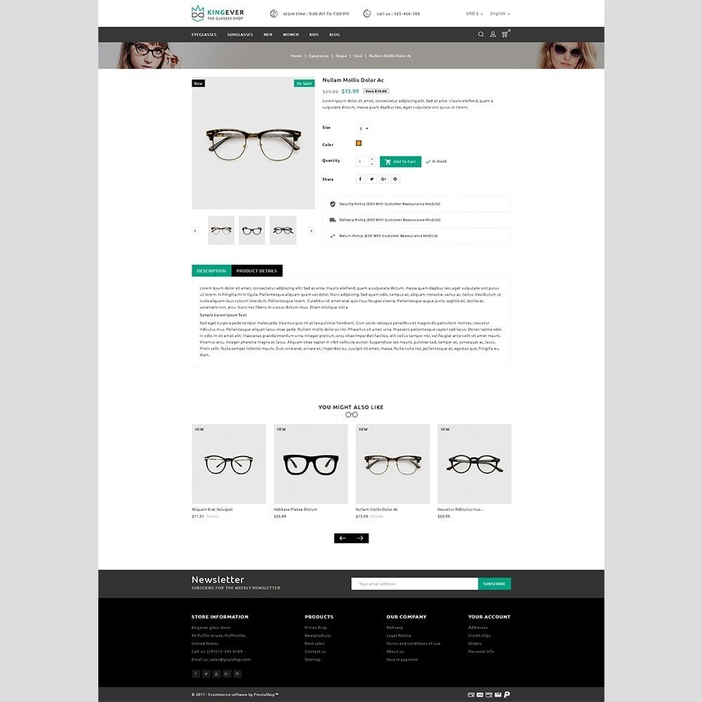 theme - Sport, Aktivitäten & Reise - Kingever glasses store - 4
