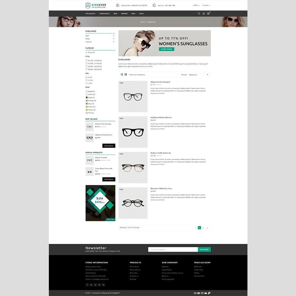theme - Sport, Activiteiten & Reizen - Kingever glasses store - 5