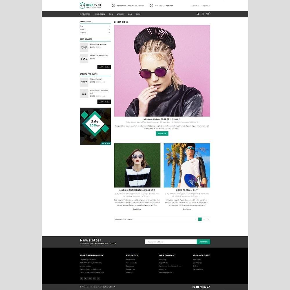 theme - Sport, Activiteiten & Reizen - Kingever glasses store - 6