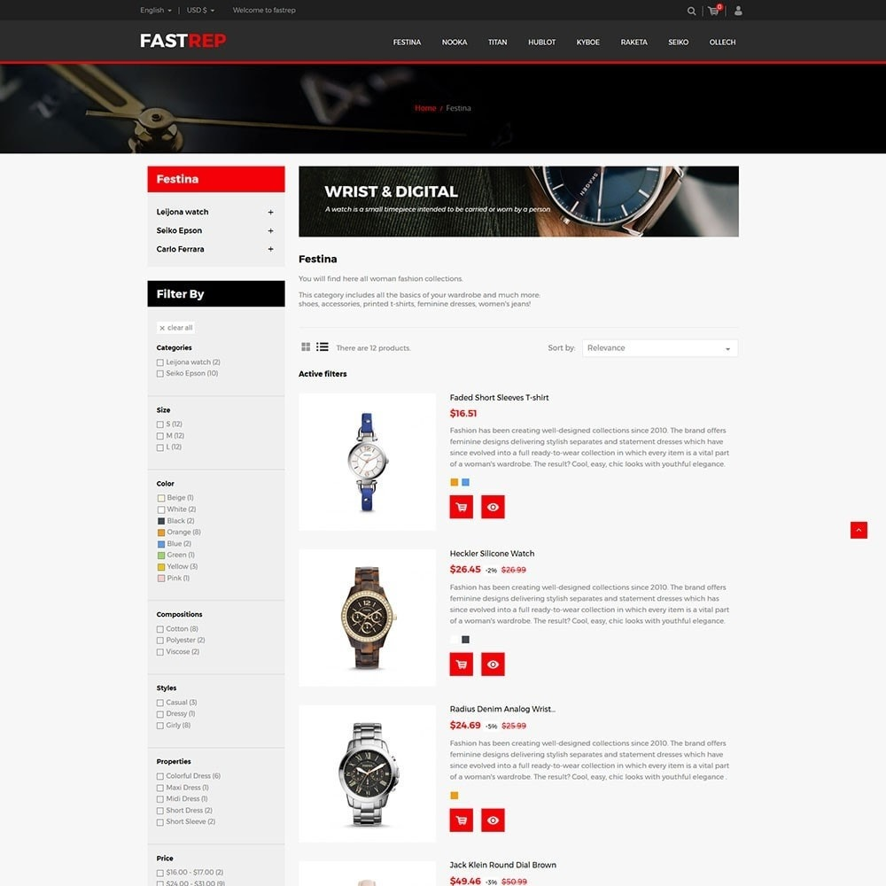theme - Mode & Chaussures - Fasttrep - Watch Store - 4