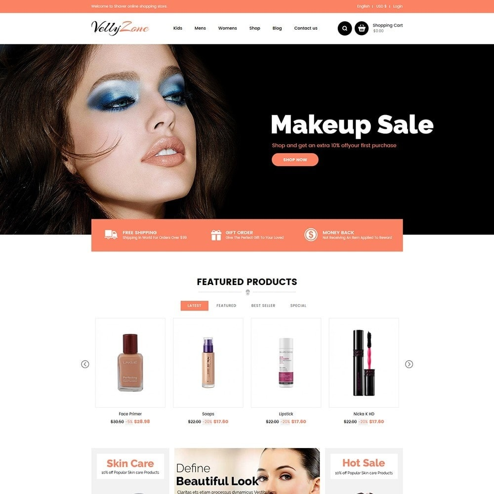 theme - Health & Beauty - Vellyzone - Cosmetics  Store - 2