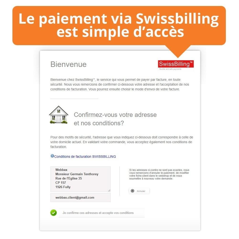 module - Paiement par Facture - Swissbilling - Paiement par facture - 4