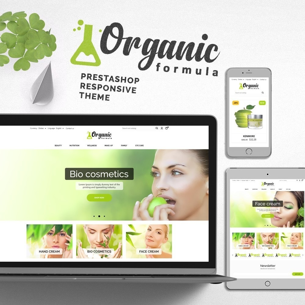 theme - Health & Beauty - OrganicFormula Cosmetics - 1