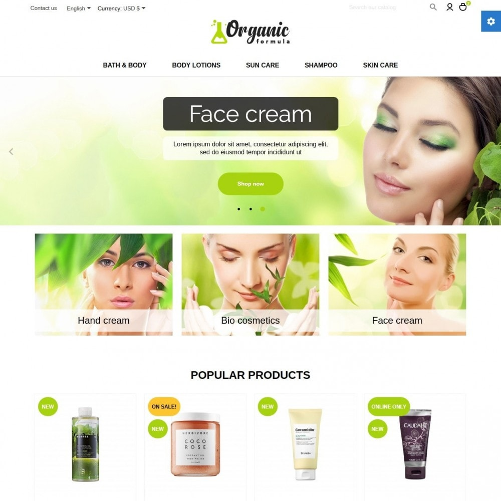 theme - Health & Beauty - OrganicFormula Cosmetics - 2