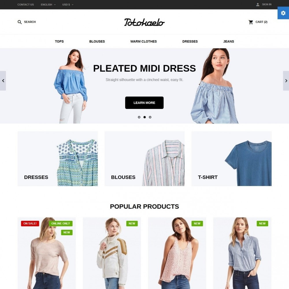 theme - Мода и обувь - Totokaelo Fashion Store - 2
