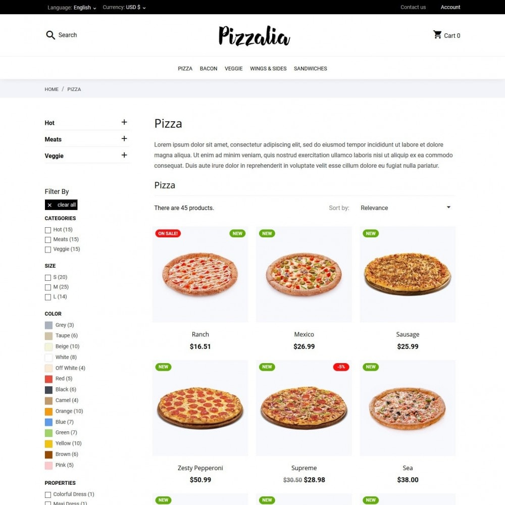 theme - Eten & Restaurant - Pizzalia - 5