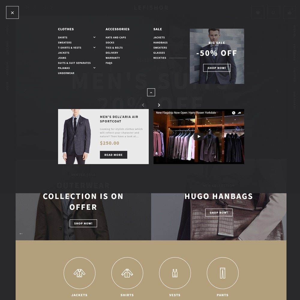 theme - Moda y Calzado - Lefishor - Tema de PrestaShop para Sitio de Moda - 4
