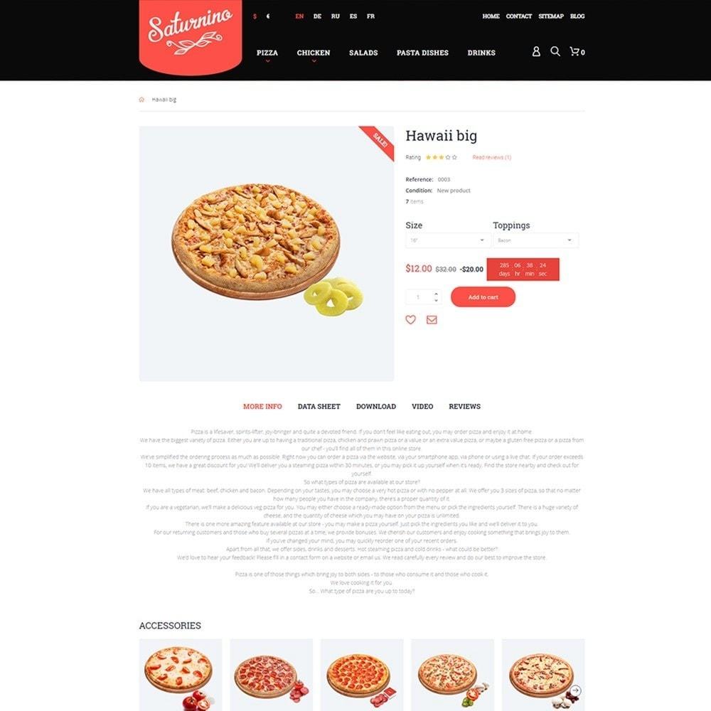 theme - Продовольствие и рестораны - Saturnino - PrestaShop шаблон пиццерии - 4