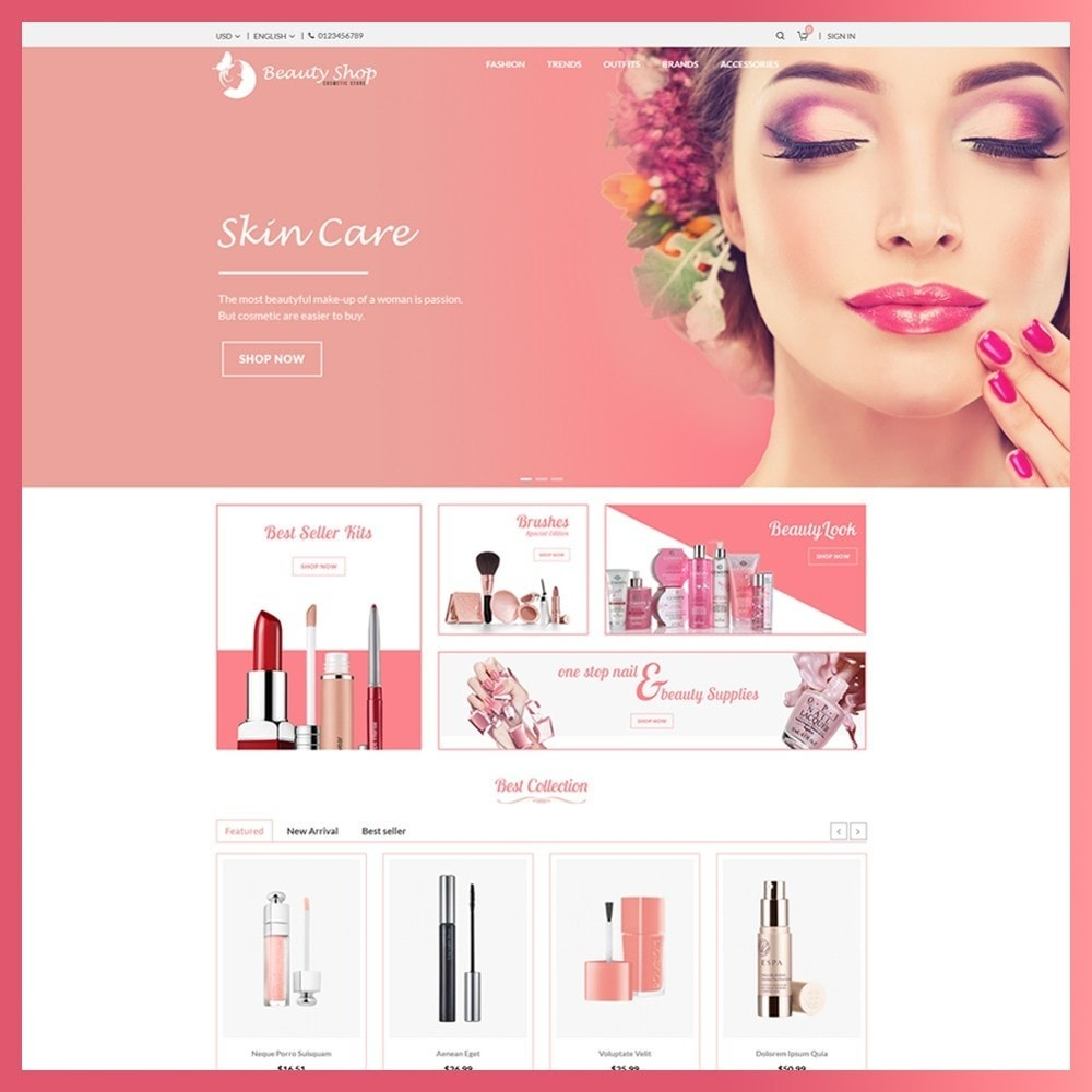 theme - Salud y Belleza - Beauty Cosmetic store - 2