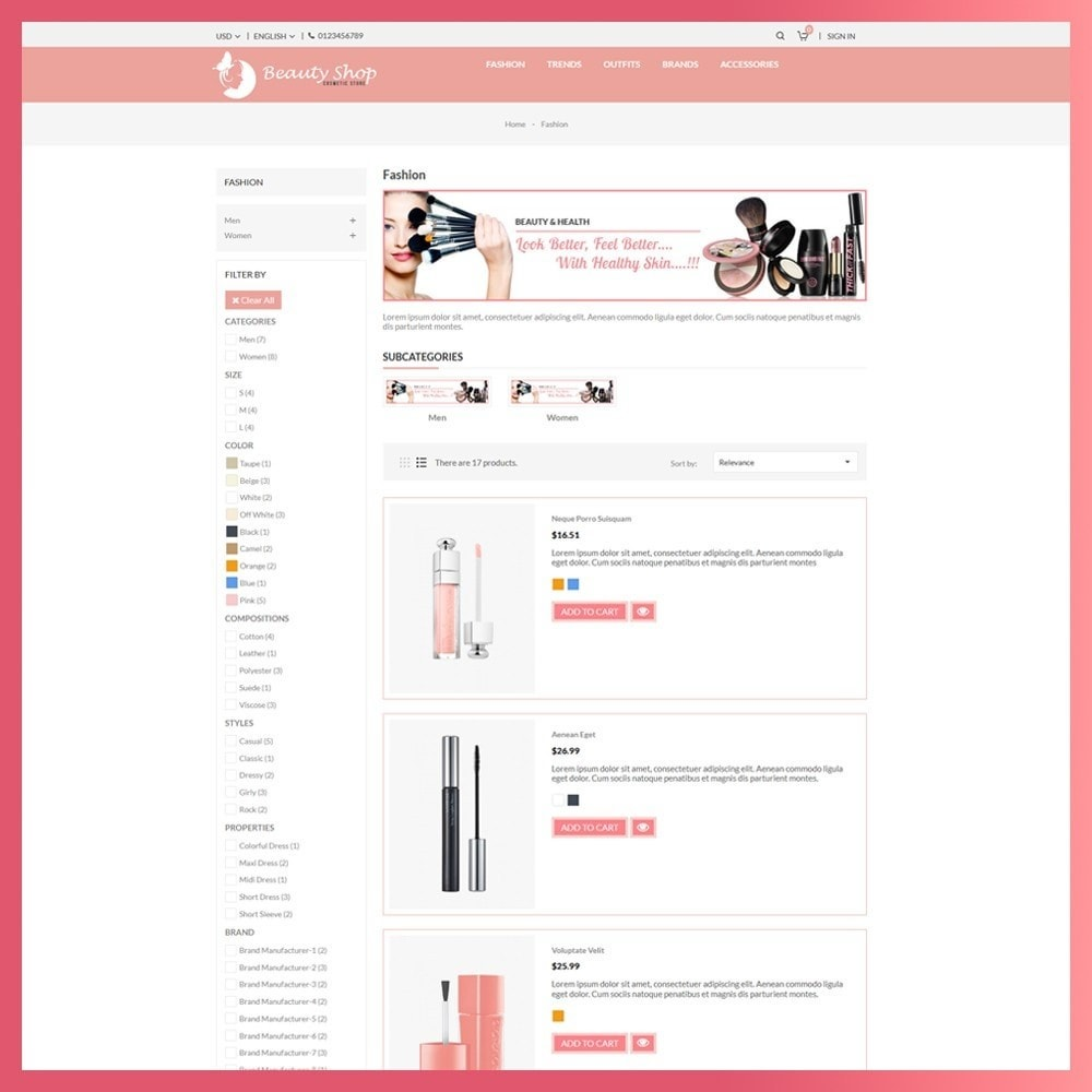 theme - Salud y Belleza - Beauty Cosmetic store - 4