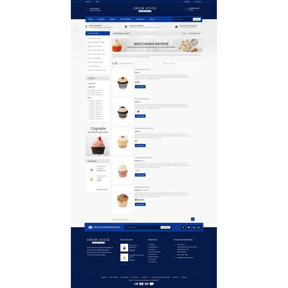 theme - Alimentation & Restauration - Drum Stick - Bakery Store - 4