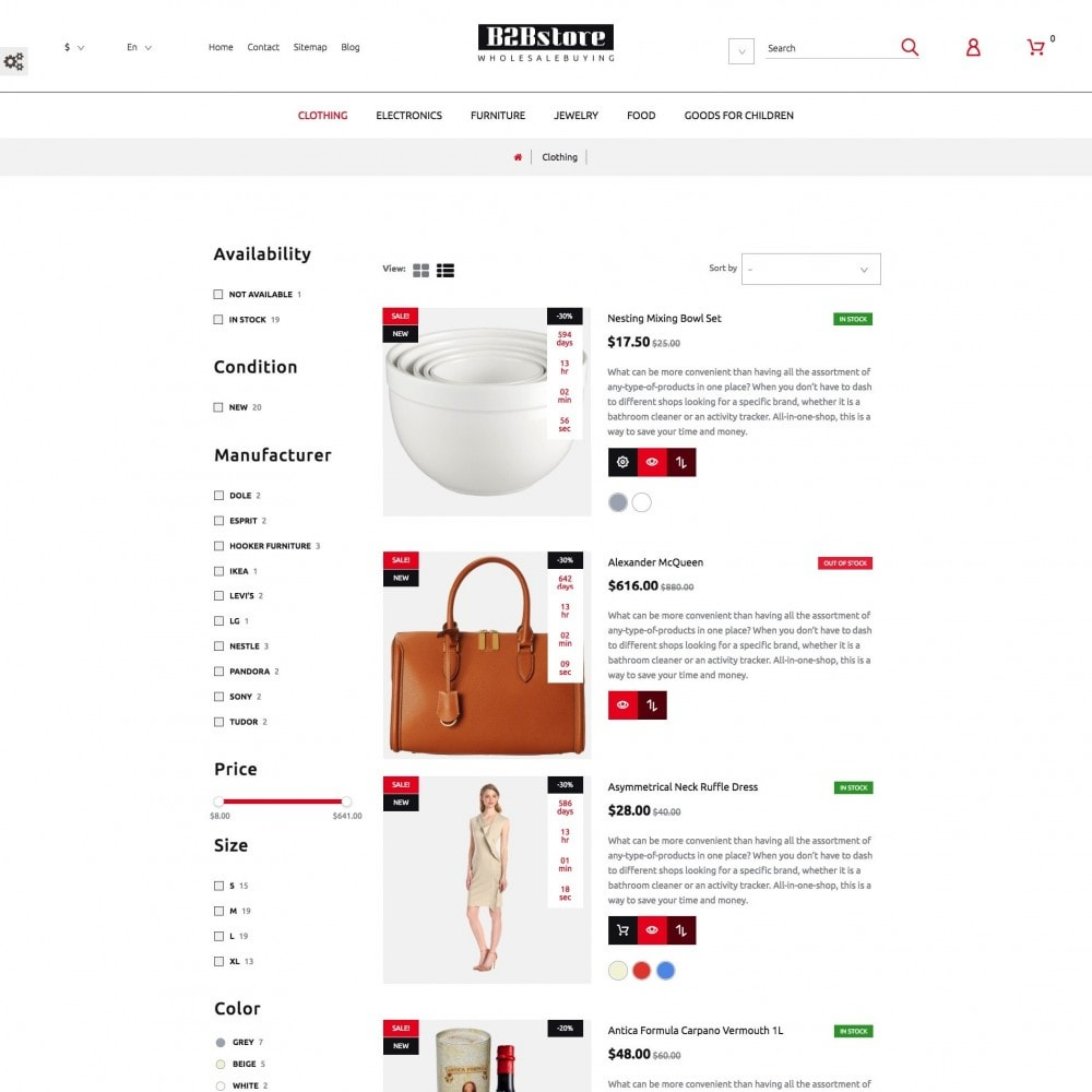 theme - Mode & Chaussures - B2Bstore - 4