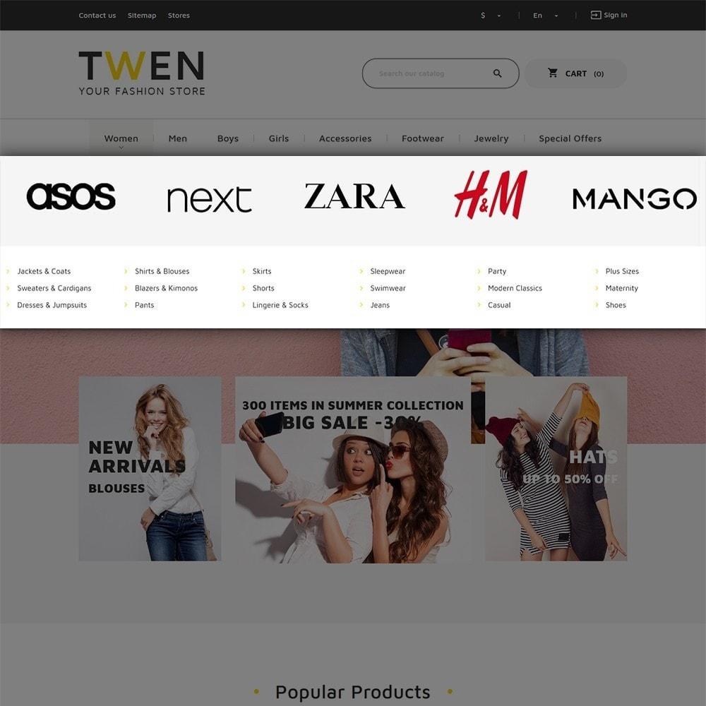 theme - Mode & Chaussures - Twen - magasin de mode thème PrestaShop adaptatif - 6
