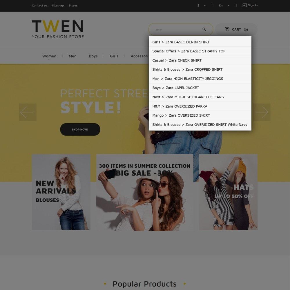 theme - Moda y Calzado - Twen - Tema de PrestaShop para Sitio de Tienda de Ropa - 6