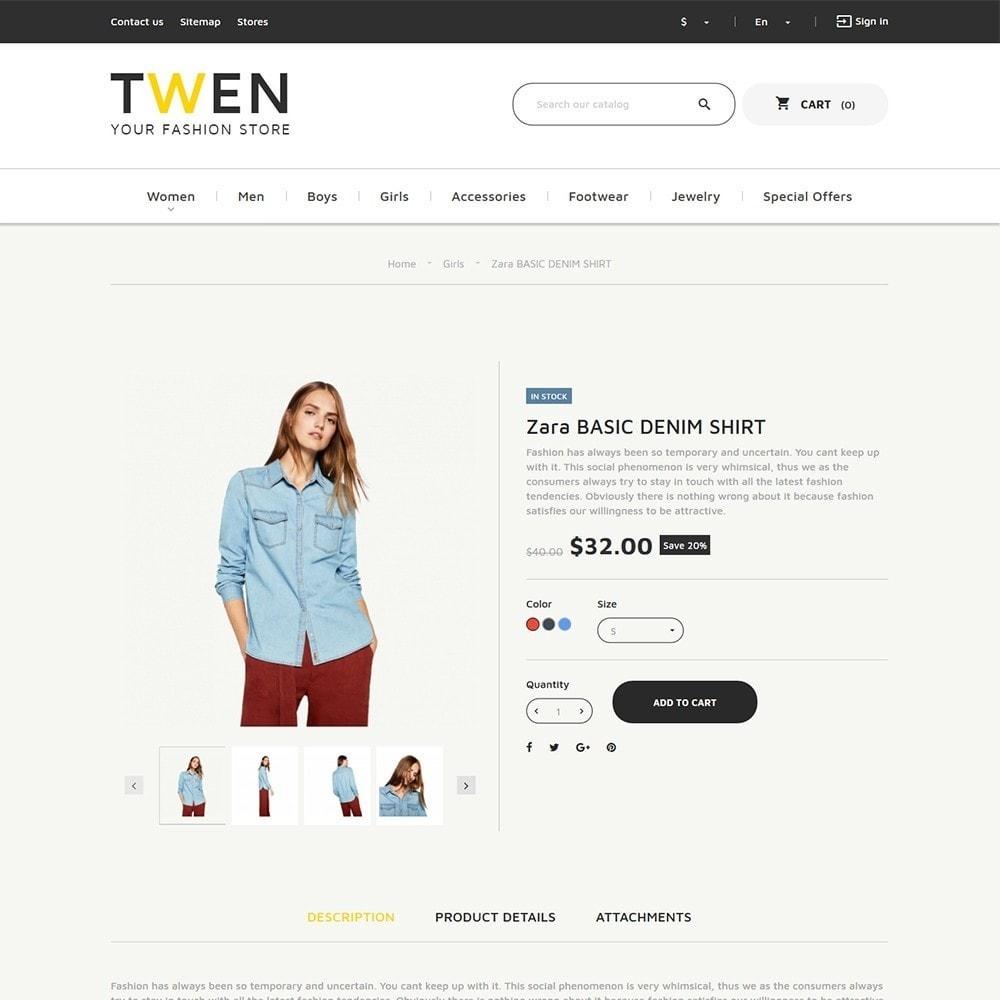 theme - Мода и обувь - Twen - Адаптивный PrestaShop шаблон модной одежды - 3
