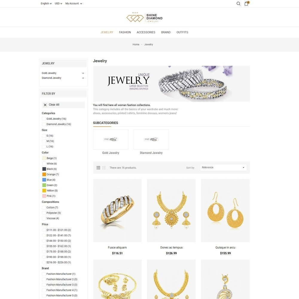 theme - Bellezza & Gioielli - Shine Diamond Jewelry Store - 5