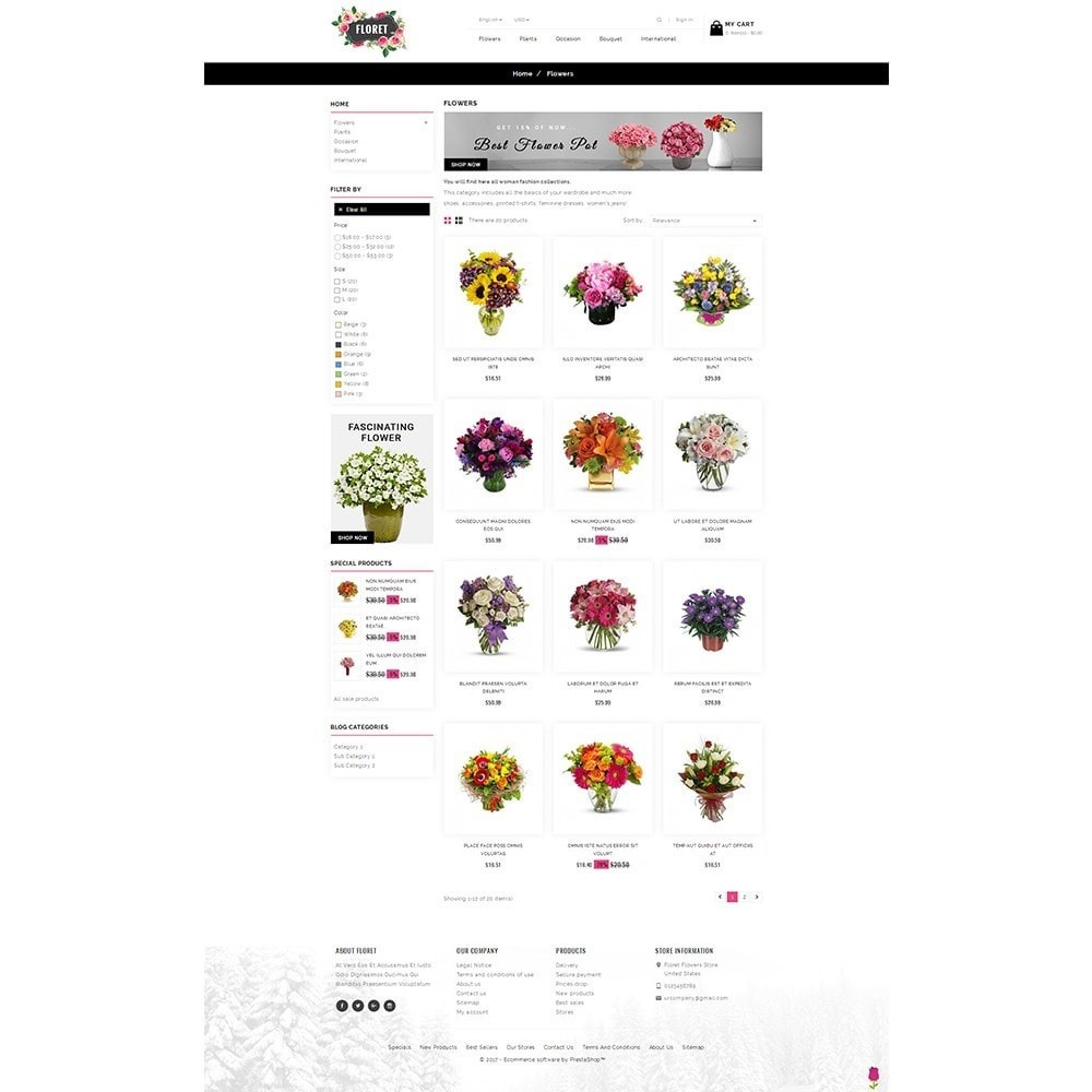 theme - Gifts, Flowers & Celebrations - Floret Flower Store - 3