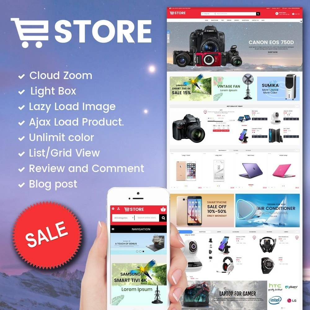 theme - Elettronica & High Tech - Electronic And Computer Estore - 1