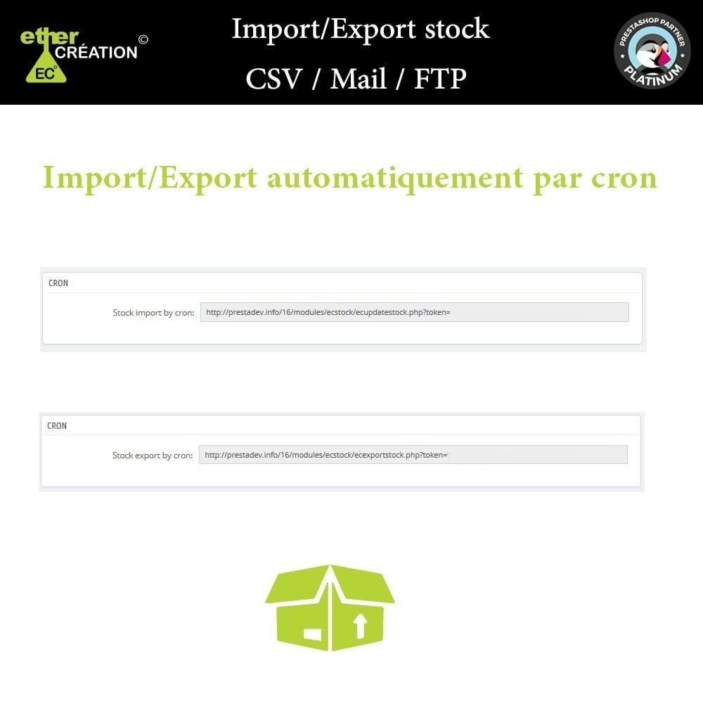 module - Import & Export de données - Import/Export stock produits en masse CSV / Mail / FTP - 4