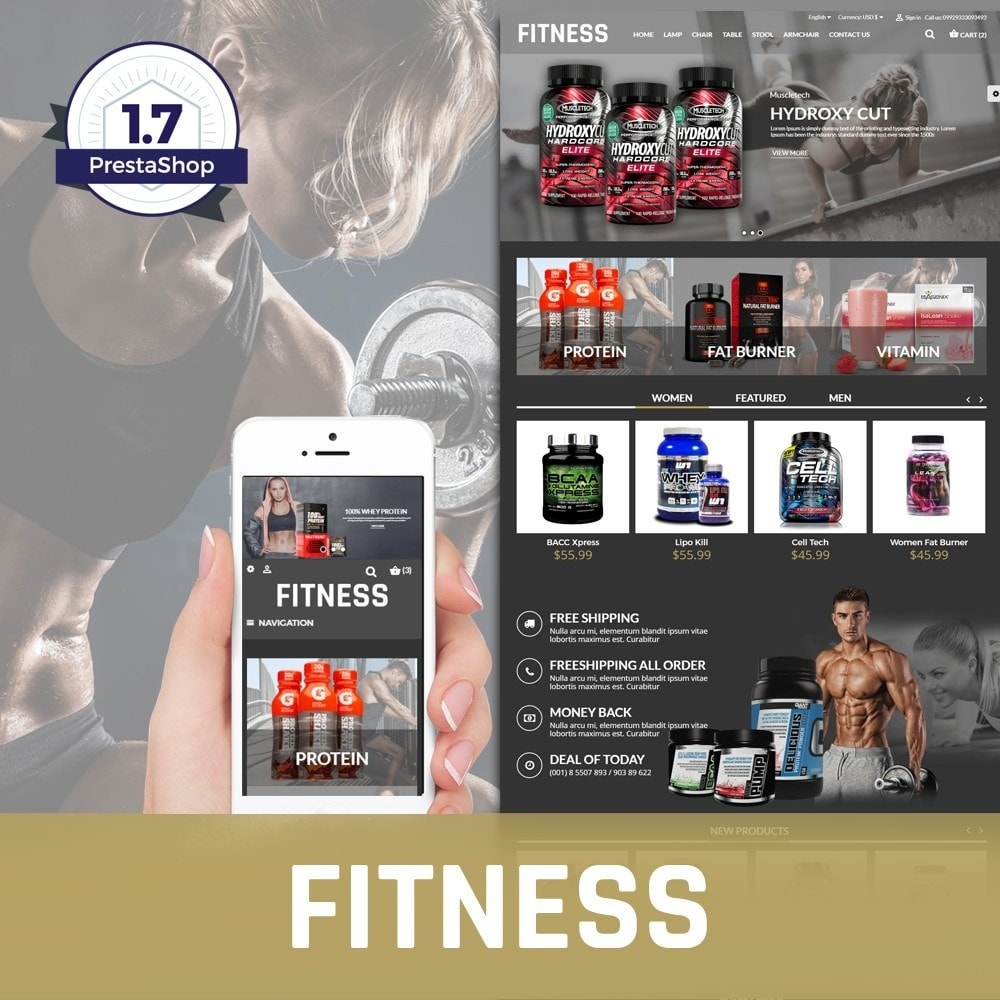 theme - Saúde & Beleza - Fitness Health And Medical - 1