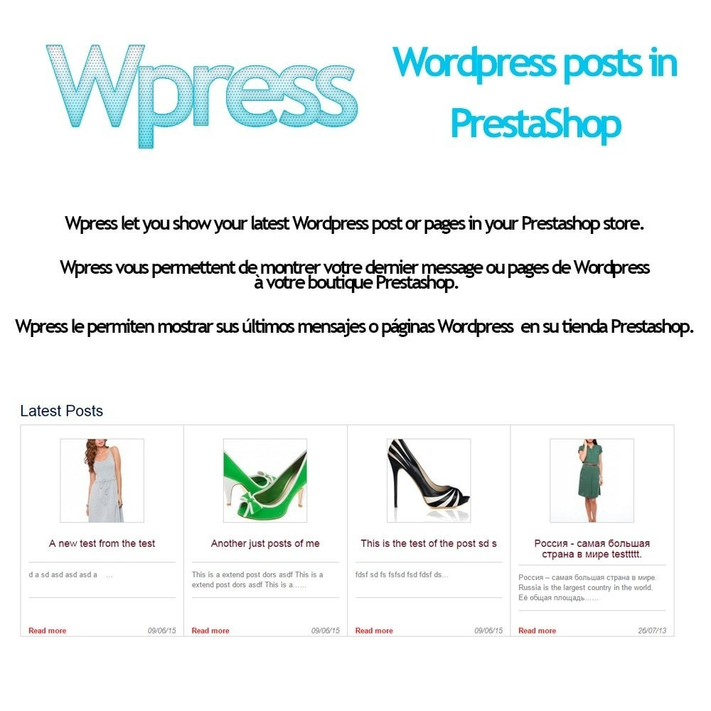 module - Blog, Forum & News - Wpress - Wordpress in Prestashop - 1