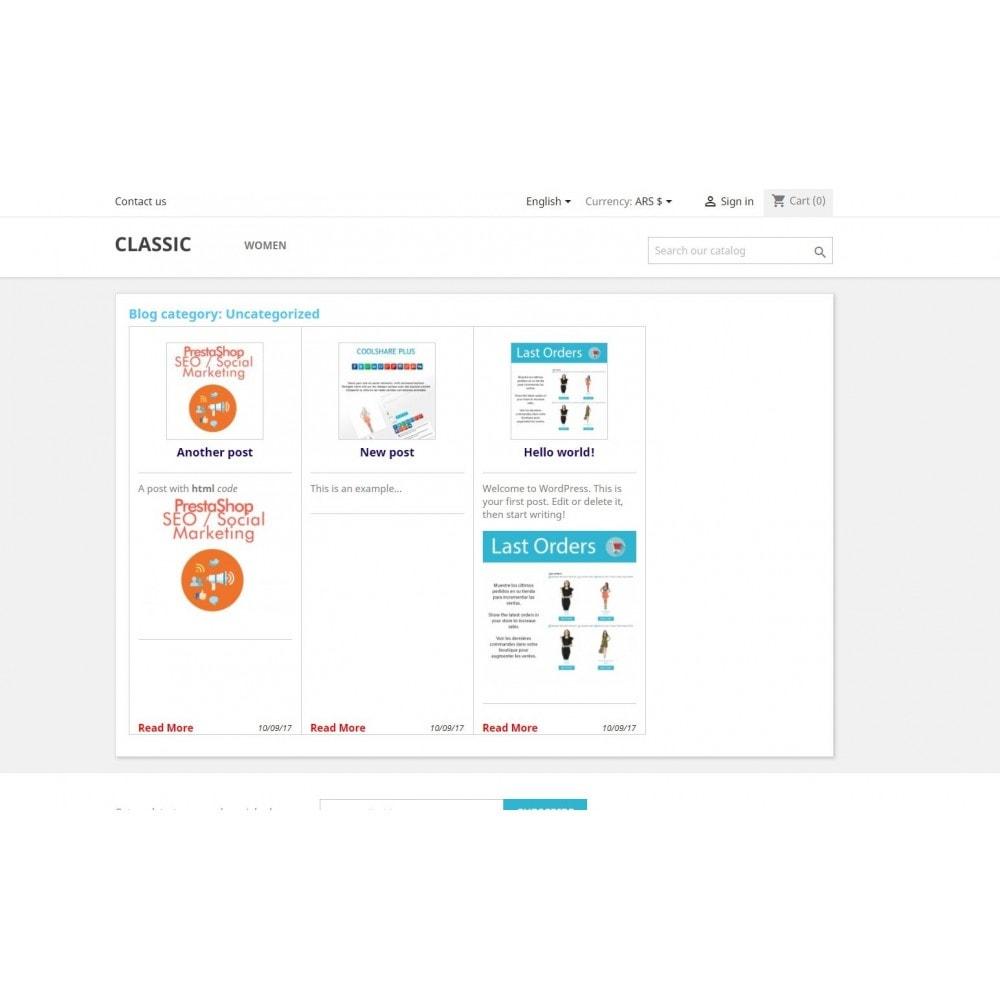 module - Blog, Foro y Noticias - Wpress - Wordpress en su tienda - 3