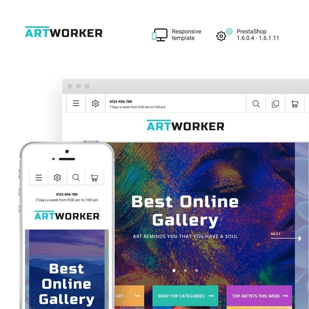 theme - Kunst & Kultur - Artworker - Online Gallery & Artist Portfolio - 1