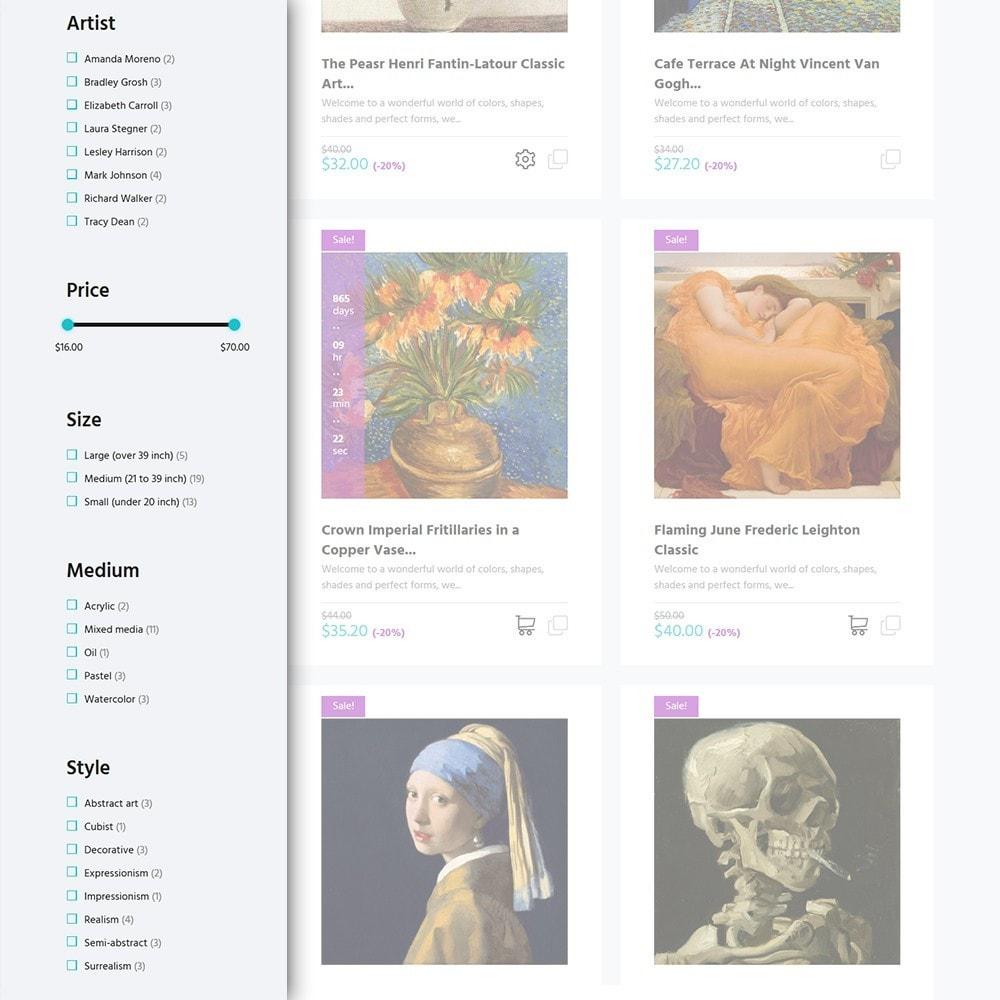theme - Art & Culture - Artworker - Galerie et portfolio d'artiste en ligne - 4