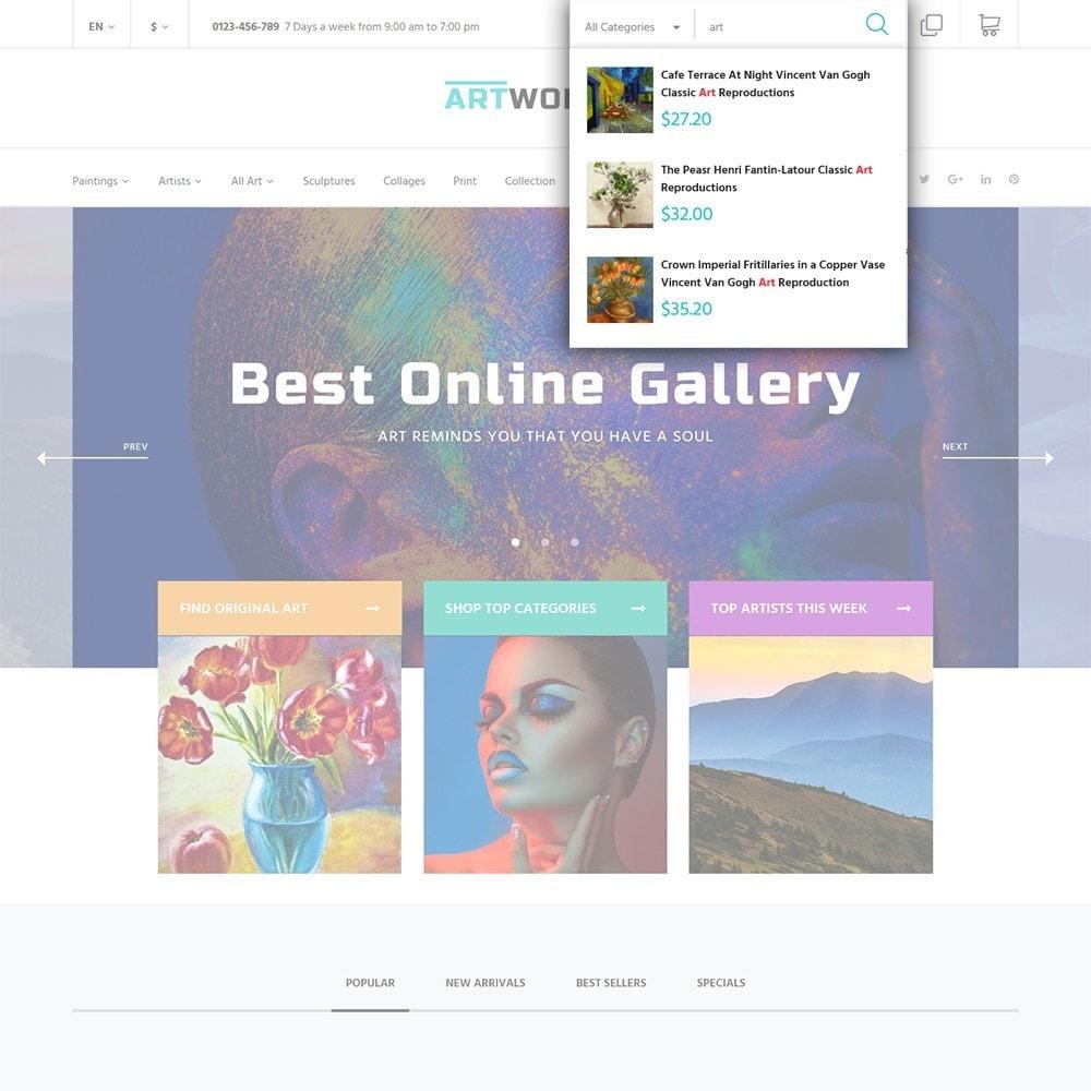 theme - Arte y Cultura - Artworker -  Sitio de Galerías de arte - 5