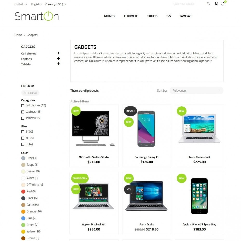 theme - Electrónica e High Tech - SmartOn - High-tech Shop - 5
