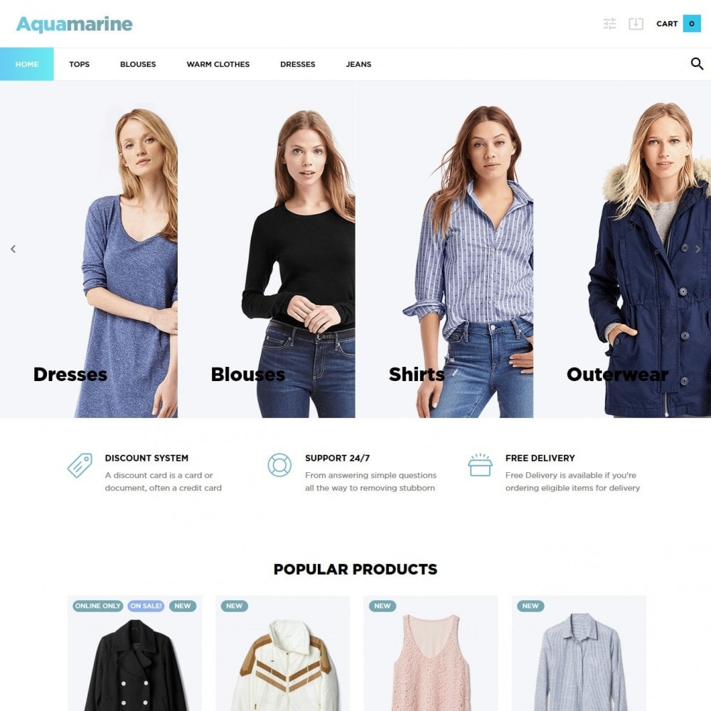 theme - Мода и обувь - Aquamarine Fashion Store - 2