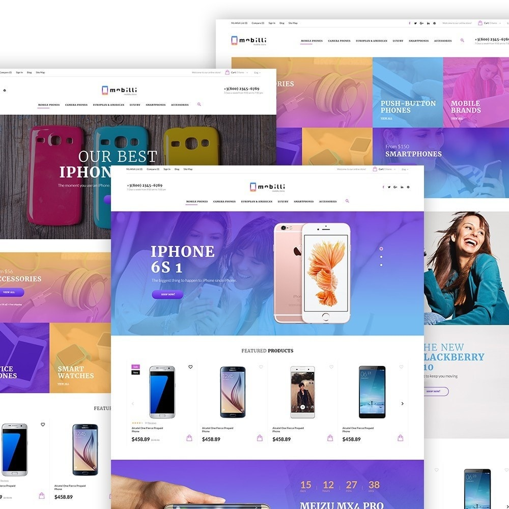 theme - Электроника и компьютеры - Mobilli - шаблон на мобильной связи - 2