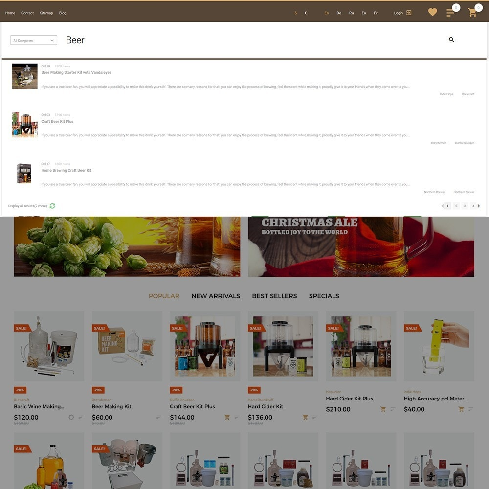 theme - Alimentation & Restauration - Beerione - Équipement de brasserie thème PrestaShop - 5