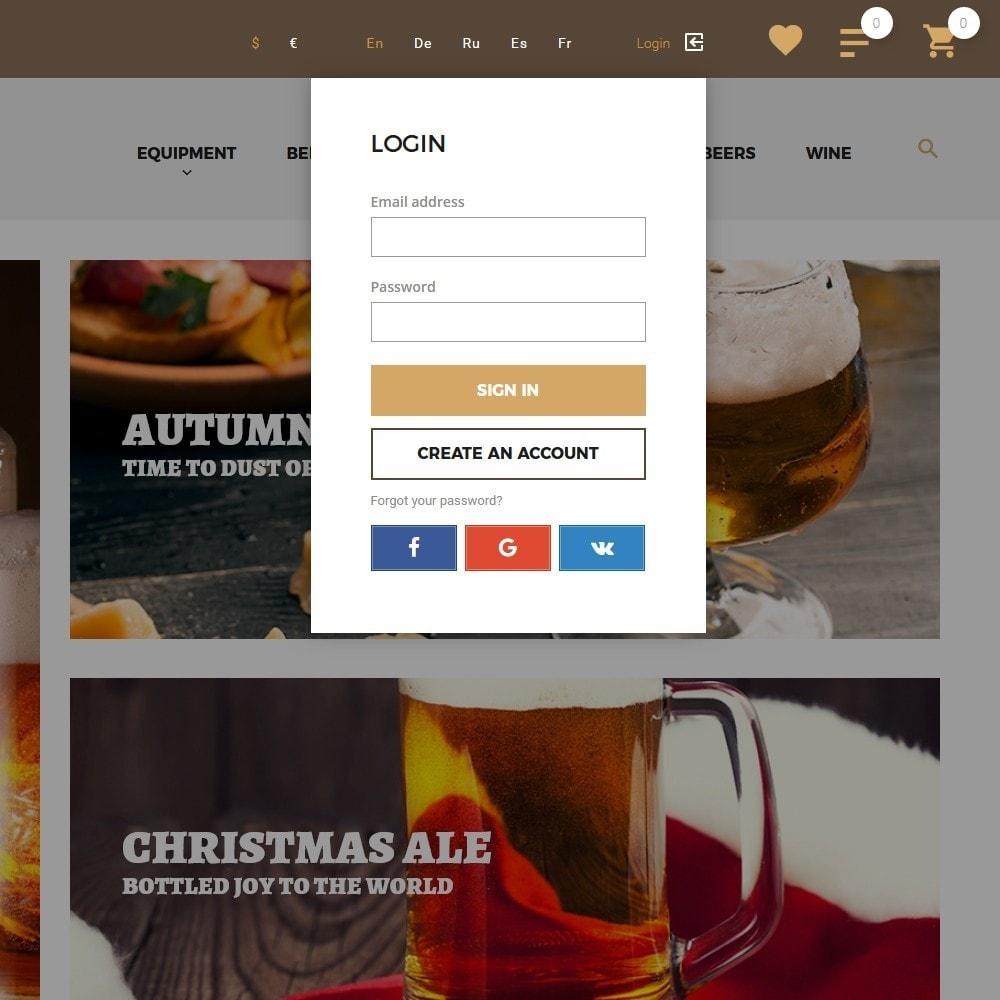 theme - Alimentation & Restauration - Beerione - Équipement de brasserie thème PrestaShop - 6
