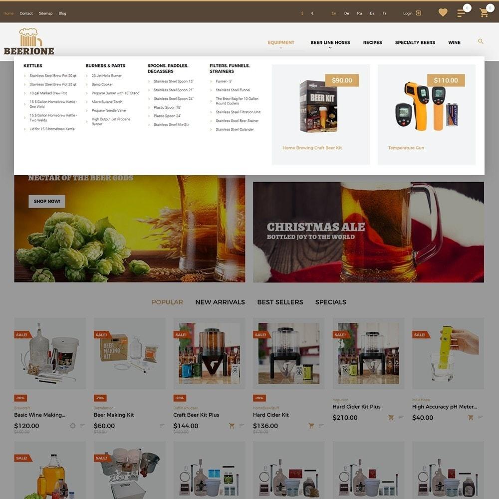 theme - Bebidas y Tabaco - Beerione - Brewing Equipment Store - 5