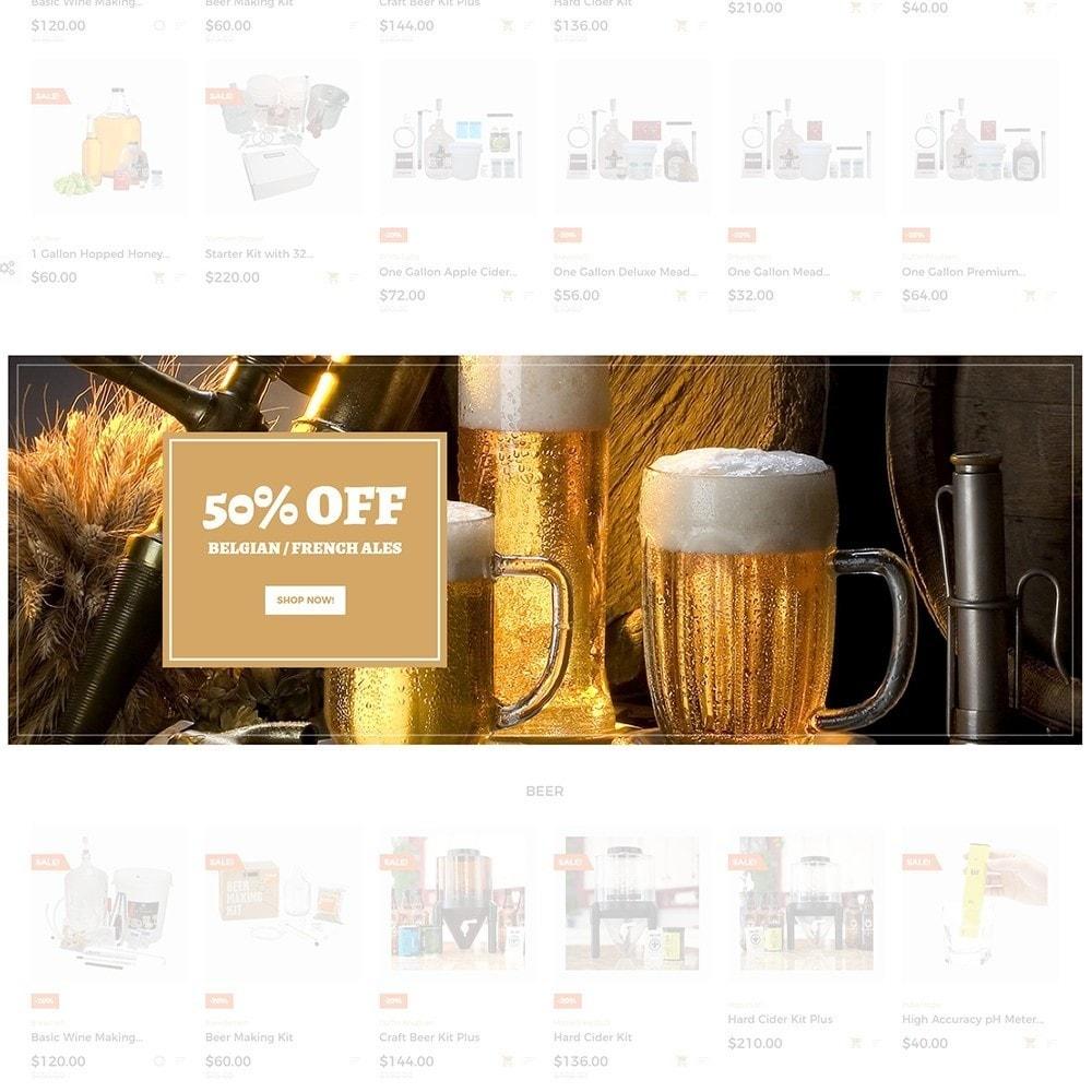 theme - Напитки и с сигареты - Beerione - Шаблон на тему алкоголь - 4