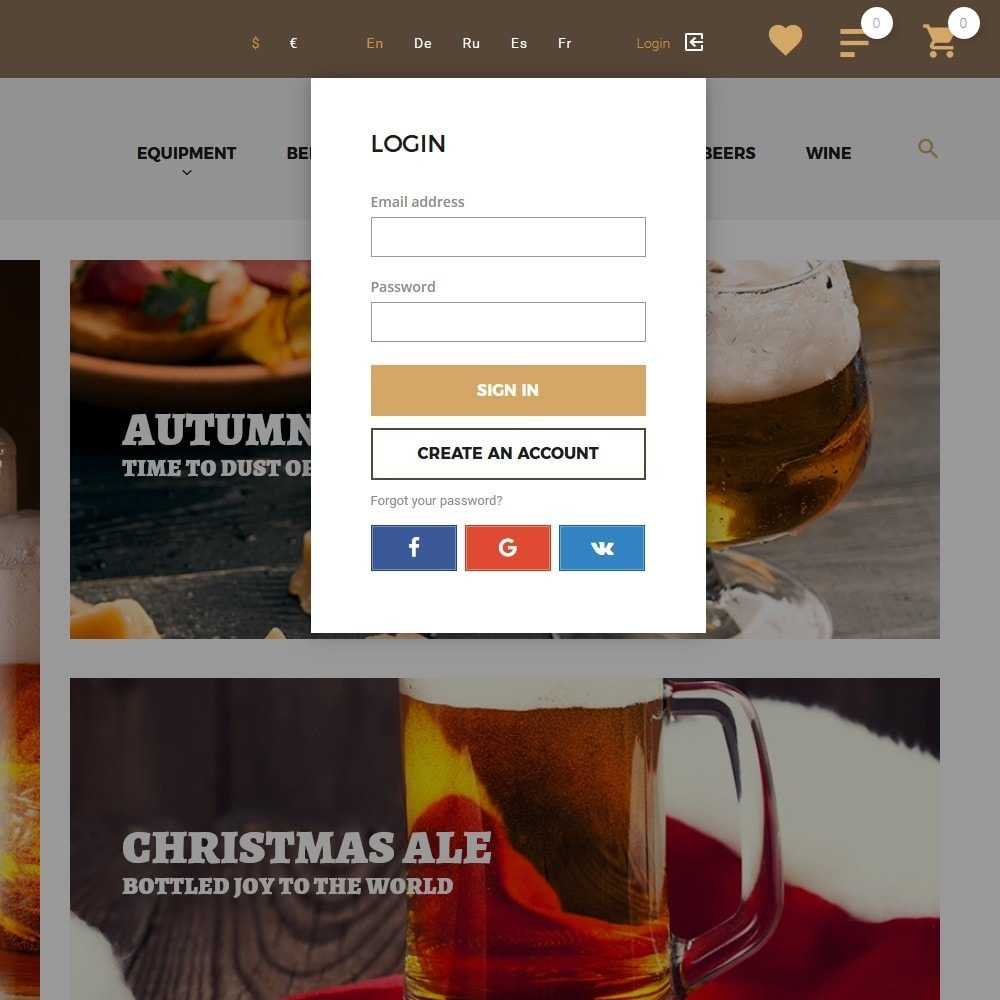 theme - Шаблоны PrestaShop - Beerione - PrestaShop шаблон на тему алкоголь - 6