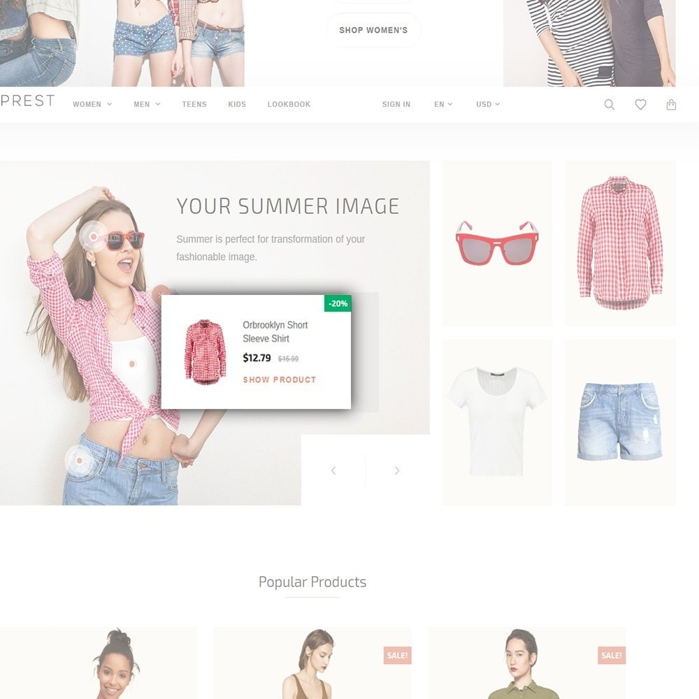 theme - Mode & Schoenen - Eveprest - Multipurpose PrestaShop Theme - 7