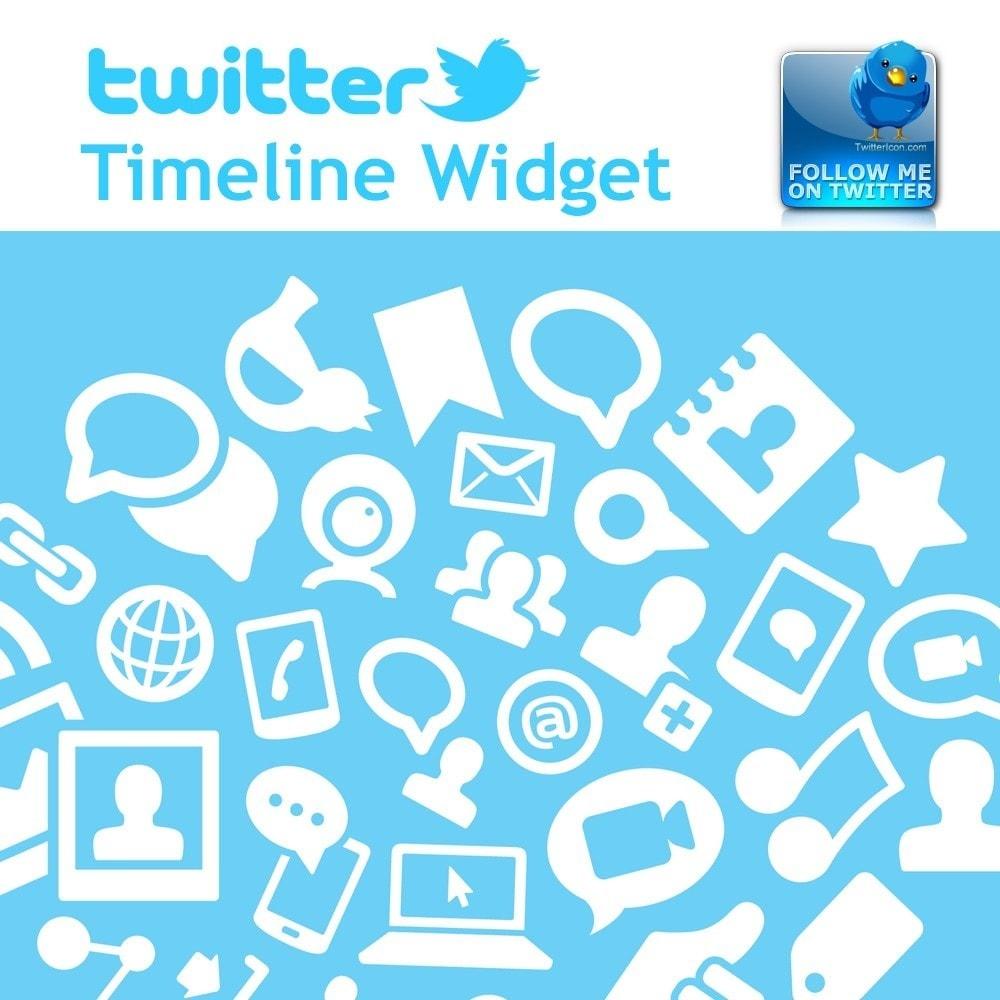 module - Widgets para redes sociales - Tweet Feed, Twitter Timeline Widget - 1