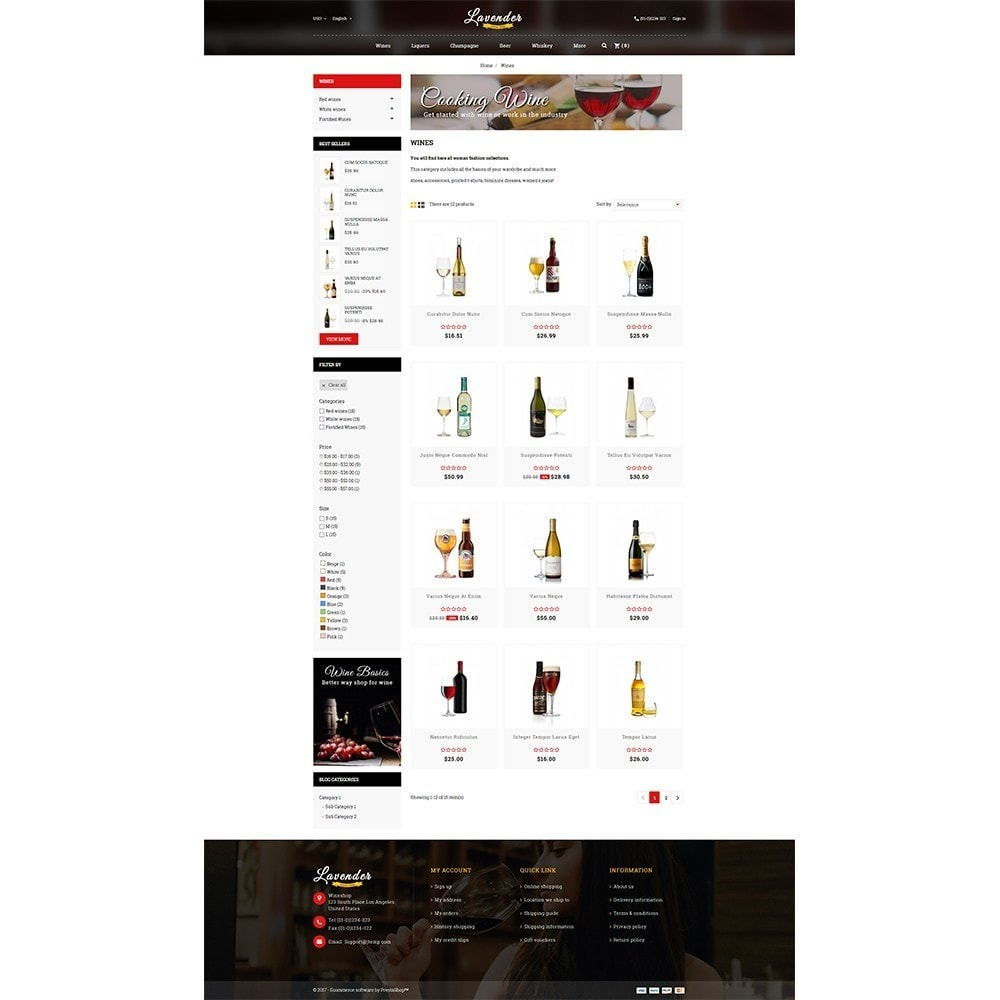 theme - Drink & Wine - Lavender Wine Store - 3