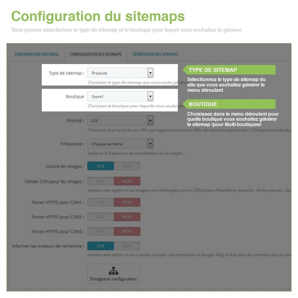 module - SEO (référencement naturel) - Sitemaps Pro Multilingues et Multi-Boutiques - SEO - 2