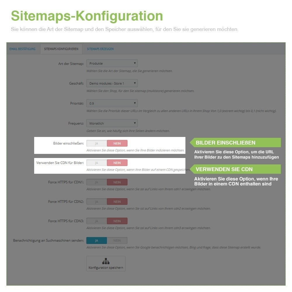 module - SEO - Multisprach und Multishop Sitemap Pro - SEO - 5
