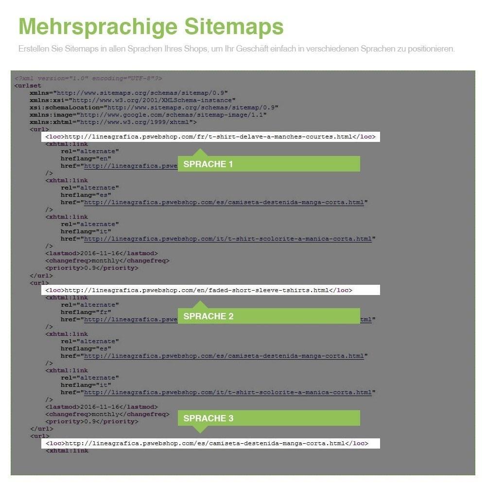 module - SEO - Multisprach und Multishop Sitemap Pro - SEO - 11