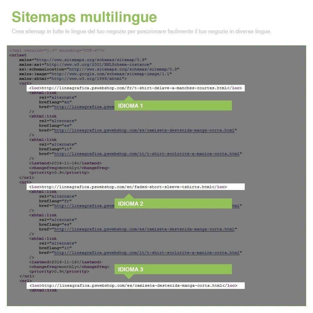 module - SEO (Indicizzazione naturale) - Sitemaps Pro Multi-Lingue e Multi-Negozio - SEO - 13