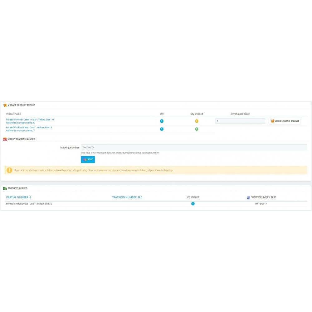 module - Zarządzanie zamówieniami - Partial Shipment/Delivery - Remaining order - 3