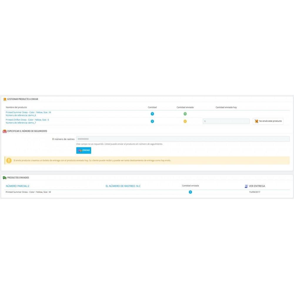 module - Gestión de Pedidos - Entrega parcial (saldo de pedido) - 3