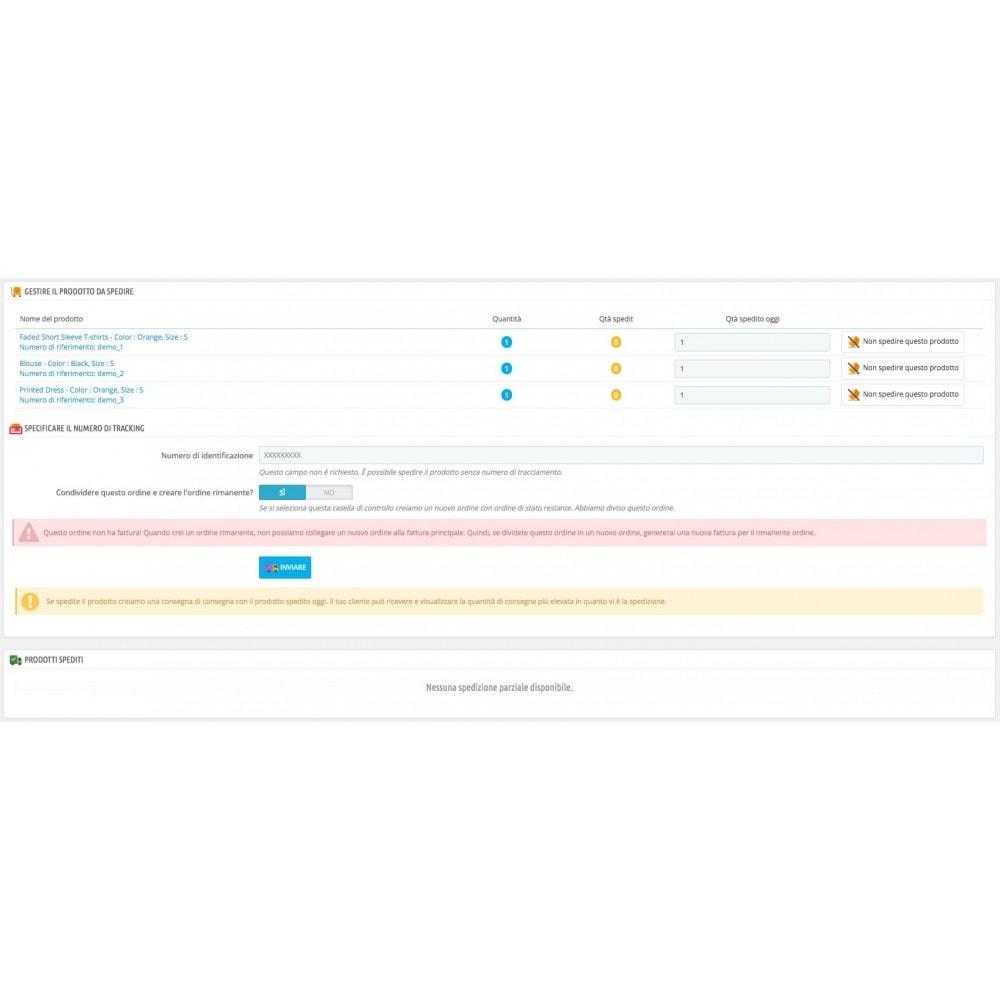 module - Gestione Ordini - Consegna parziale (saldo degli ordini) - 1